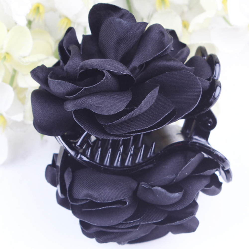 Fashion-Womens-Chiffon-Rose-Flower-Bow-Jaw-Clip-Barrette-Hair-Claw-Gift-Awesome thumbnail 3