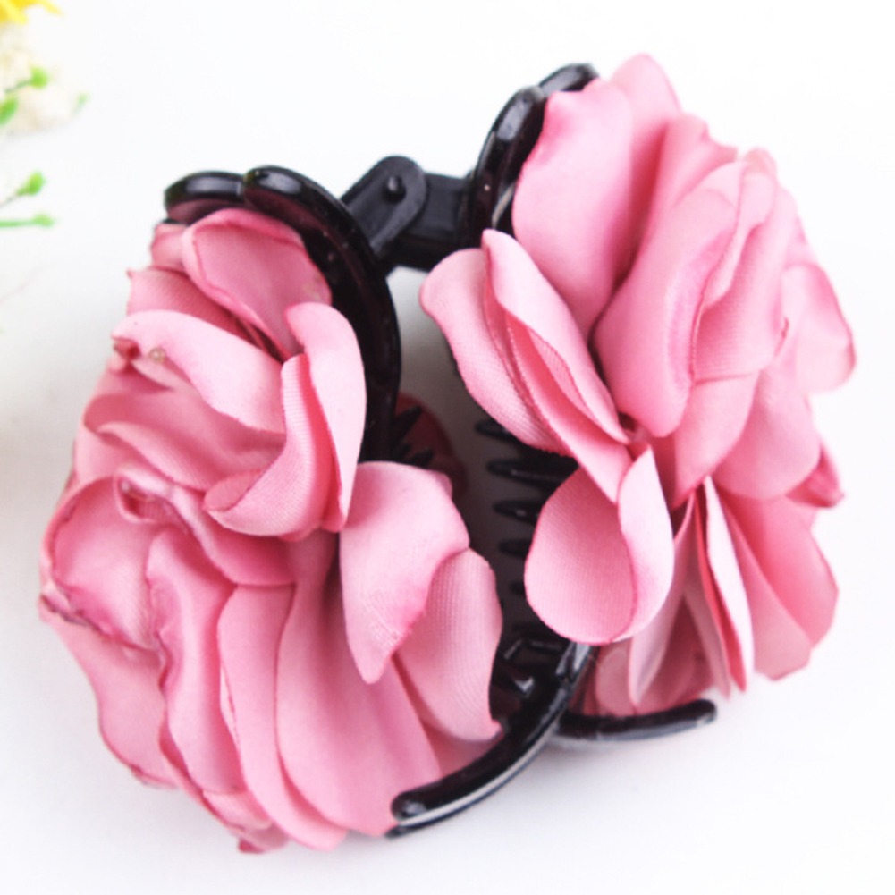 Fashion-Womens-Chiffon-Rose-Flower-Bow-Jaw-Clip-Barrette-Hair-Claw-Gift-Awesome thumbnail 7