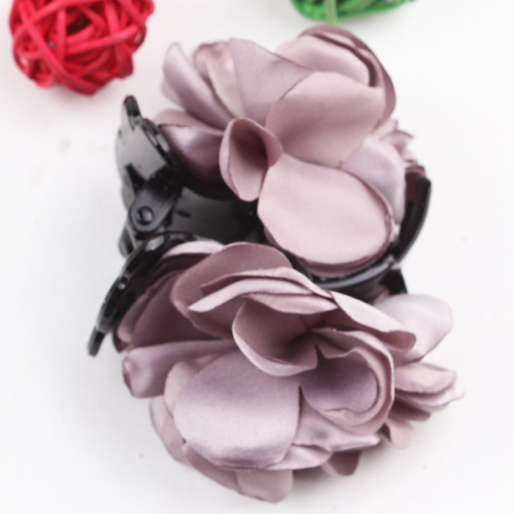 Fashion-Womens-Chiffon-Rose-Flower-Bow-Jaw-Clip-Barrette-Hair-Claw-Gift-Awesome thumbnail 8