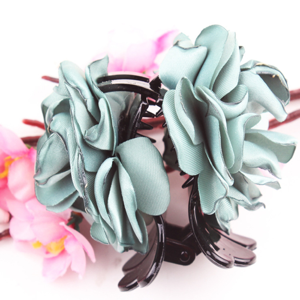 Fashion-Womens-Chiffon-Rose-Flower-Bow-Jaw-Clip-Barrette-Hair-Claw-Gift-Awesome thumbnail 9