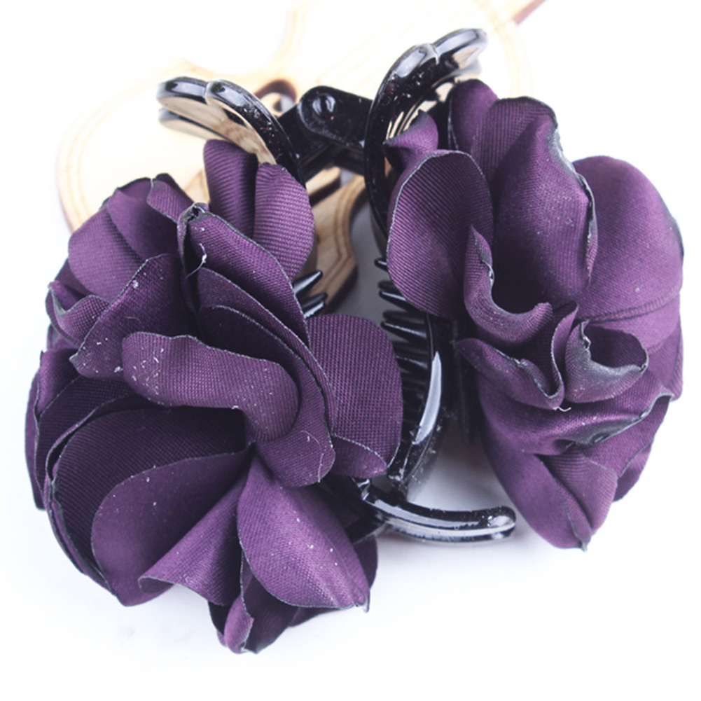 Fashion-Womens-Chiffon-Rose-Flower-Bow-Jaw-Clip-Barrette-Hair-Claw-Gift-Awesome thumbnail 10